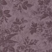 Moda Quill by 3 Sisters - 5594 - Bird Toile Floral, Plum Tone on Tone  - 44151 27 - Cotton Fabric